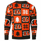 Forever Collectibles NFL Men's Cincinnati Bengals 2016 Patches Ugly Sweater $29.99 USD on eBay