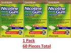 Nicotine Gum 4 mg Coated Mint Flavor Generic for Nicorette Gum 20 Count 3 PACK
