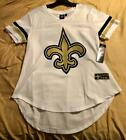 NEW ORLEANS SAINTS NFL WOMEN'S SOFT MESH JERSEY STYLE VARSITY GAME T-SHIRT NWT $9.95 USD on eBay