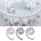 1m Knot Plush Pillow Baby Bed Bumper Nursery Safe for Baby Crib Travel Decor