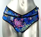 Victorias Secret x Mary Katrantzou Nwt Blue Floral Strappy Cheekini Panty S M