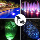 Submersible Solar LED RGB Pond Spot Lights Underwater Pool Fountain Spotlight $32.59 USD on eBay