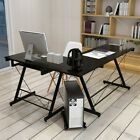L-Shape Computer Desk Laptop Table Home Office Corner Workstation Keyboard Tray