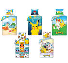 Anime Pokemon Pikachu Bettwäsche 100% Baumwolle Cotton 135x200 140x200