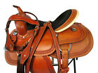 HAND TOOLED GENUINE LEATHER 15 16 BARREL RACING USED SADDLE WESTERN HORSE SHOW
