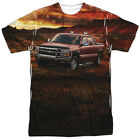 New Authentic Chevrolet Silverado in the Mud Truck Sublimation Front T-shirt top