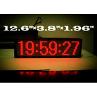 Large LED GPS Wall Clock Coordinated Universal Time Automatic Correcting RED
