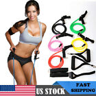 Resistance Band Elastic Yoga Pilates Fitness Tube Pull Rope Gym Abs Exercise US image