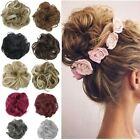 Hair Scrunchie Wrap Hairpiece Messy Bun Updo Extension Wavy Curly Real Natural