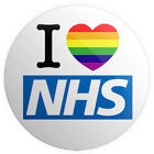 NHS - Various Designs - BUTTON PIN BADGES 25mm 1 INCH | Support Rainbow