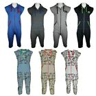 Mens 1Onesie Nightwear Zip Hooded Printed All in One Jumpsuit Pyjama Lounge wear