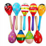 More images of Colorful Wooden Maracas Baby Child Musical Instrument Rattle Shaker Kids Toys H7