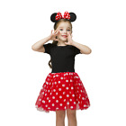 Kyпить Minnie Mouse Dress for Girl Baby Kids Dots Birthday Party Wear Match Headband на еВаy.соm
