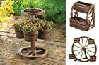 Whiskey Barrel Planters Rustic Flower Pot Country Outdoor Decor Hanging Wooden