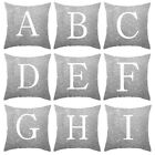 A-z & Letters Cushion Silver Throw Pillow Case Cover Home Sofa Bed Decor 45*45cm