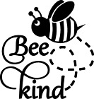 Bee Kind Cartoon Die Cut Decal Vinyl Sticker For Cars, Truck, Laptop And More