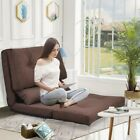 Sofa Bed Adjustable Folding Lazy Floor Chairs Gaming Sofa Lounge Sofa w/2 Pillow