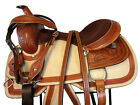 16 15 RODEO WESTERN SADDLE HORSE PLEASURE TOOLED LEATHER ROPING RANCH TACK SET