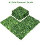 Artificial Boxwood Mat Wall Hedge Decor Privacy Fence Panel Grass Yard Garden