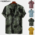 Men's Short Sleeve Hawaiian Casual Loose T Shirts Summer Beach Party Cool Blouse