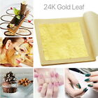 10-50x Pure 24k Gold Leaf Sheet Book Food Edible Decorating Art Craft 4.3*4.3cm