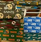 NFL COTTON Fabric 1/4 yard piece, 9 inches X 58 inches ---Choose your team $15.0 USD on eBay