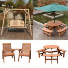 Wooden Garden Table Benches Chairs Seat Swing Chair Hammock Patio Furniture Uk