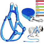 Polka Dots Nylon Step In Dog Harness and Leads Adjustable for Pet Puppy Yorkie