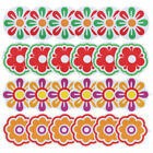 6Pcs Bright Flowers Appliques Anti-slip Bathtub Decals Stickers Treads for Tubs
