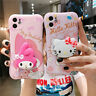 For iPhone 11 Pro XS Max XR 7 8+ Cartoon Kitty My Melody Stand Holder phone Case
