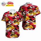USA Kansas City Chiefs Hawaiian Shirt Summer Holiday Short Sleeve Button T-shirt