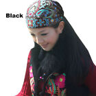 For Women Mexican Style Ethnic Vintage Embroidery Flowers Bandanas Hat