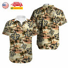 US New Orleans Saints Hawaiian Shirt Summer Beach Short Sleeve Button Up T Shirt