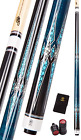 Collapsar CXT Pool Cue with Soft Case,Black with Cream Points and Turquoise,Wrap $141.61 USD on eBay