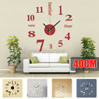 Large 3D Wall Clock Big Watch Decal Stickers Roman Numerals DIY Wall Modern