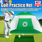 Foldable Golf Net+Mat+3Ball Golf Training Aid Driving Net Cage Hitting System US