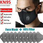 Reusable Double Breathing Valve Face Mask With Bactivated Carbon Filters Pads