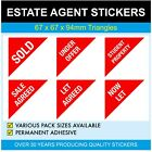 STUDENT PROPERTY - Estate Agents Stickers - Triangles - SALE AGREED - SOLD