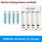 AA 3000mAh Rechargeable Batteries Or Charger For Game Controller Remote Control