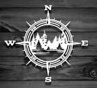 Compass Trees Lake Vinyl Decal -sticker For Jeep Car Truck Bumper Wall Window