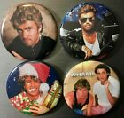 "GEORGE MICHAEL WHAM 2.25"" PIN BUTTON OR MAGNET SET Andrew Ridgely 80s Pop Dance"