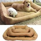 Large Deluxe Soft Washable Dog Pet Warm Basket Bed Cushion with Fleece