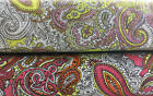 Traditional Vintage Paisley floral 100% Cotton Poplin 58