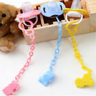2pcs Cartoon Baby Pacifier Chain Clip Anti Lost Dummy Soother Nipple Hol* EW