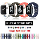 Silicone iWatch Band Sport Strap for 38/40/42/44mm Apple Watch Series 6 5 4-1 SE