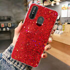 For Samsung Galaxy A20 S10 Plus A30 A50 Case Shockproof Slim Bling Glitter Cover