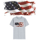 Usa Flag Pvc Patch Transfer Printing Iron On Patches For Clothing Sticke Ew