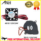 Anet A6 A8 Brushless Cooling Fan 4010 5015 Turbo AC DC 12V 24V Mini Power Cooler
