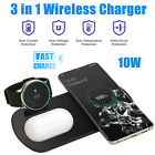 3in1 Wireless Charger Fast Charging Pad Dock For Samsung Phone Watch Active Buds