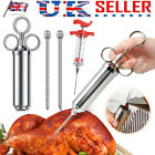 BBQ Tool Stainless Steel Needle Meat Injector Marinade Syringe Turkey Cooking UK